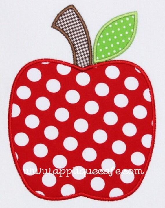 345 Apple Machine Embroidery Applique Design