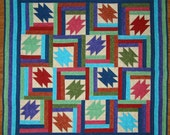 PDF Copy - 4 Sizes - Wallhanging, Lap, Twin, Double Sizes - Tumbling Logs Quilt Pattern - Great Scrappy Quilt Pattern