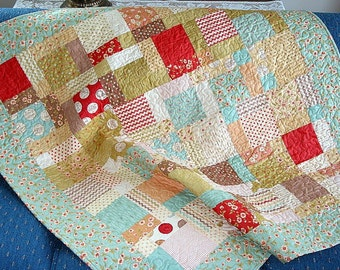 PDF Pattern - 4 sizes- Baby to Large Lap- Easy Charm Pattern -Twisted Nines QUILT PATTERN