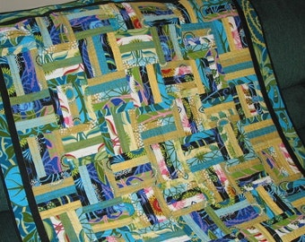 PDF Copy- Easy Honey Bun or Jelly Roll Pattern - Chair Rail Log Cabin Baby Lap QUILT PATTERN