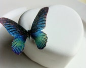 Wedding Cake Topper Edible Butterflies for Wedding Cupcakes - Edible Butterfly Wedding Cake Decoration  - Small Blue Green