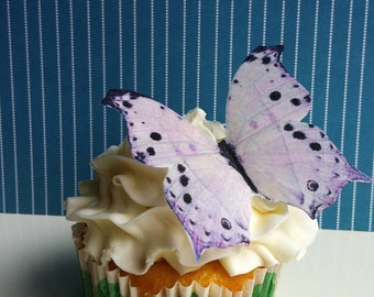 Wedding Cake Topper EDIBLE Butterflies - Cake and Cupcake Decorations - Large Light Lavender