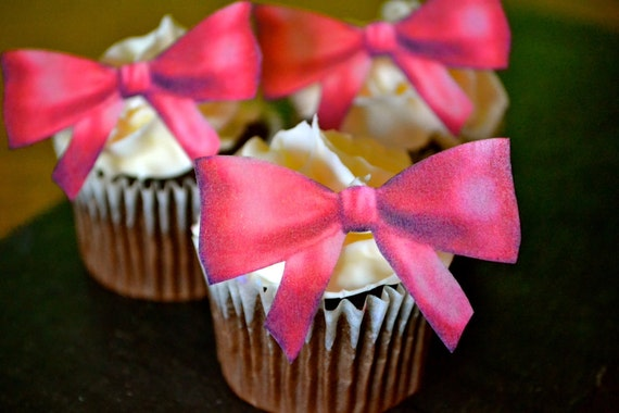 Edible Red Bows - Set of 24