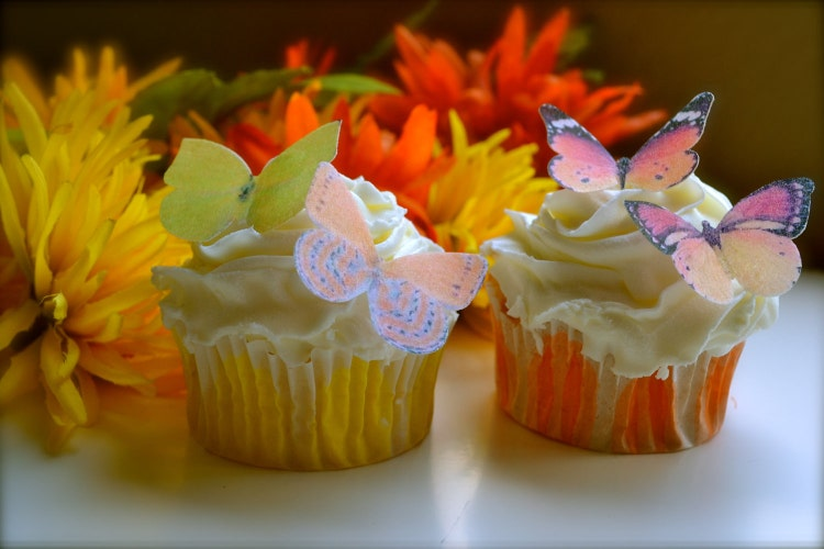 EDIBLE Butterflies Decorations for Garden Party by SugarRobot