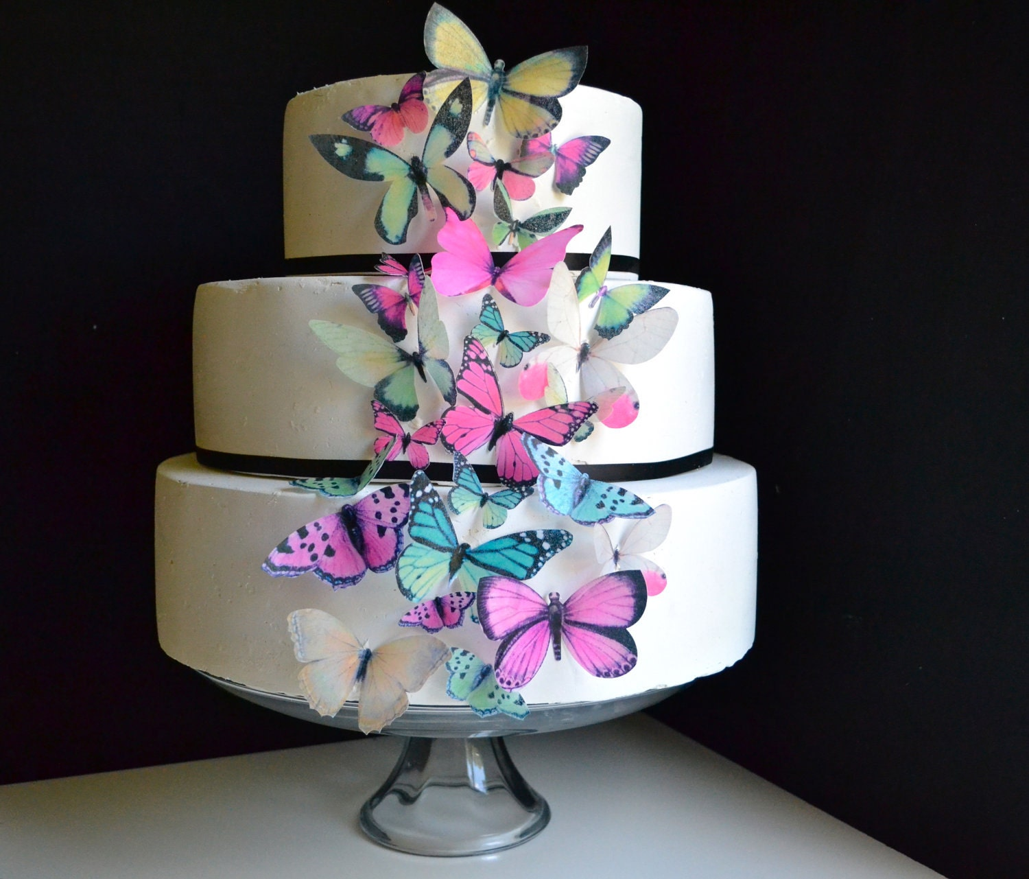 Wedding Cake Topper Wedding Cake Topper EDIBLE BUTTERFLIES