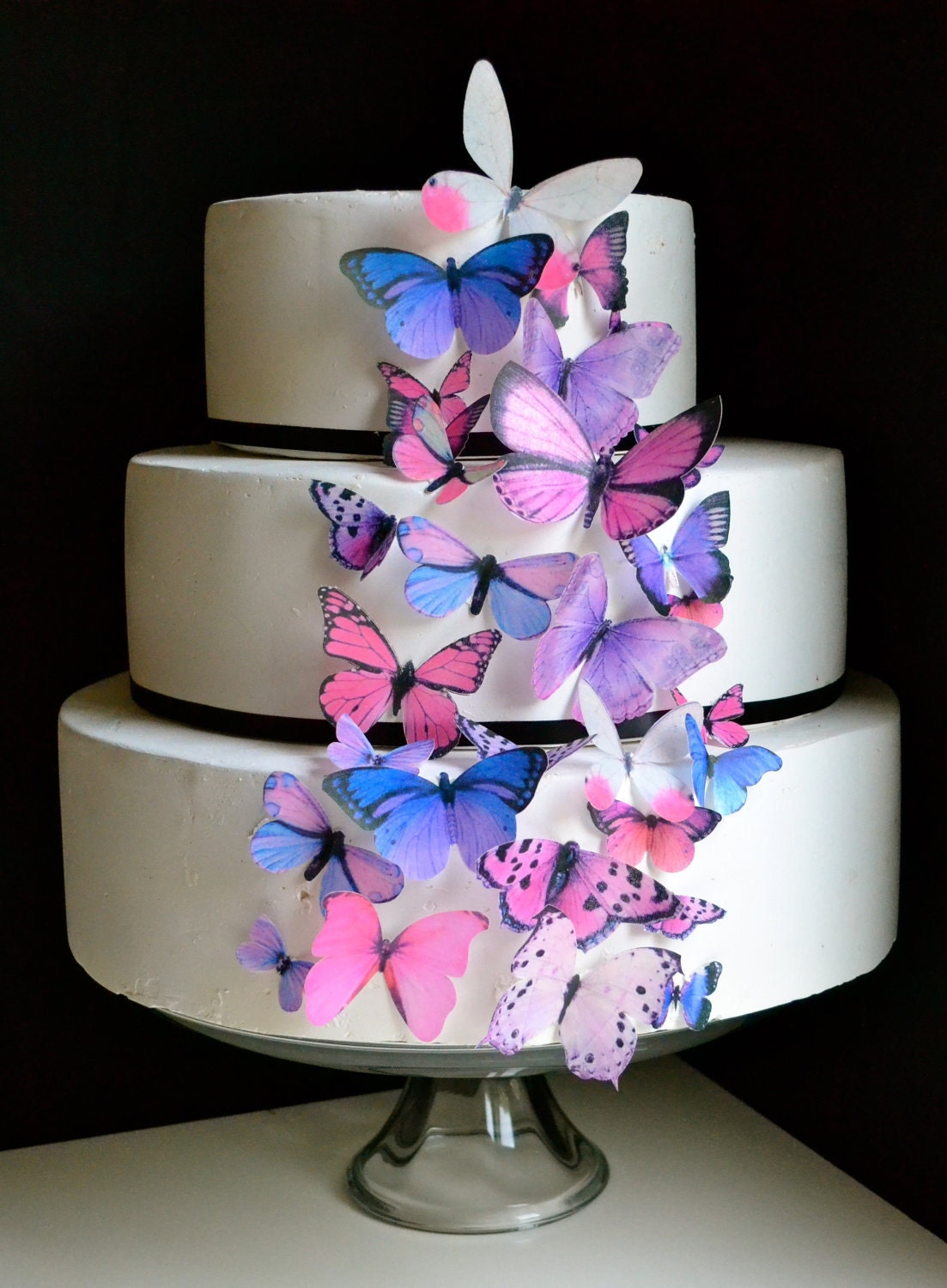 Wedding Cake Topper The Original EDIBLE BUTTERFLIES Cake