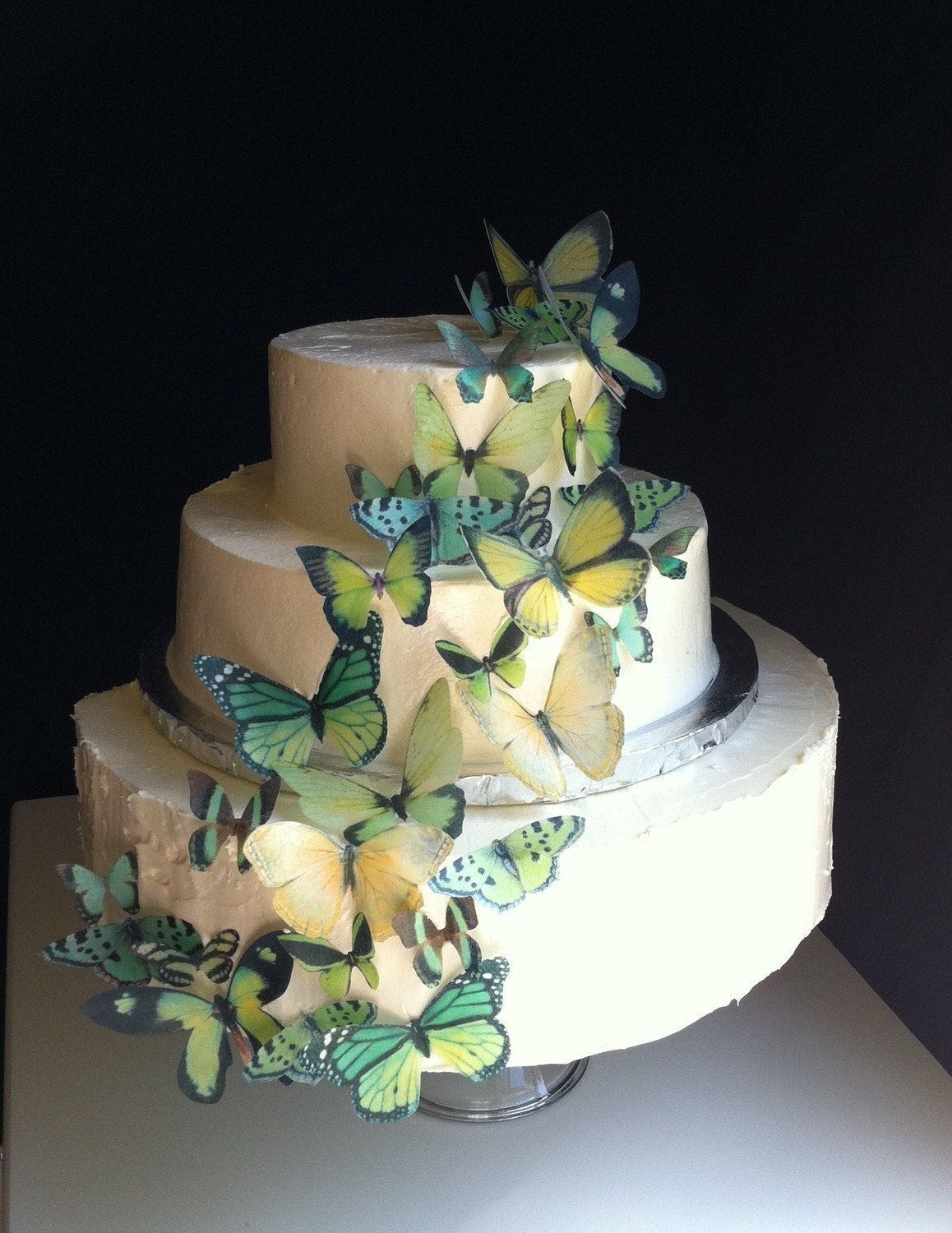 etsy wedding cakes wedding cake topper the original edible butterflies assorted 14048