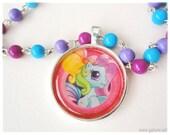 My Little Pony Purple and Blue Beaded Choker