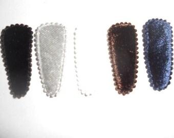25 pcs - Toddler Felt hair clip COVER - earth color  - size 35 mm