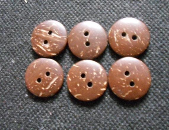 30 pcs -  Coconut Button 2 hole - size 17 mm