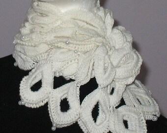 INSTANT DOWNLOAD Crochet Pattern - MAGIC Snow White Scarf, Shrug, Top, Neckwarmer (No Yarn Breaking)