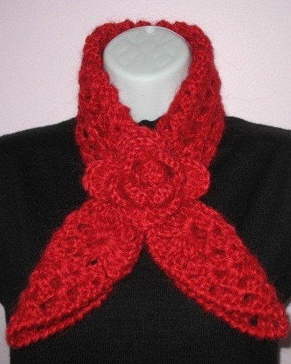 Red Heart Free Pattern Lw2254 Crochet Flower Headband : Crochet PATTERN Rose Red Heart Scarf Neckwarmer and Headband