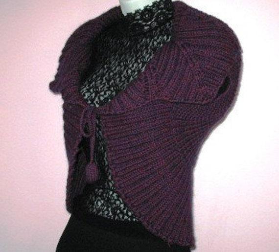 INSTANT DOWNLOAD Knitting Pattern - Striking Purple ...
