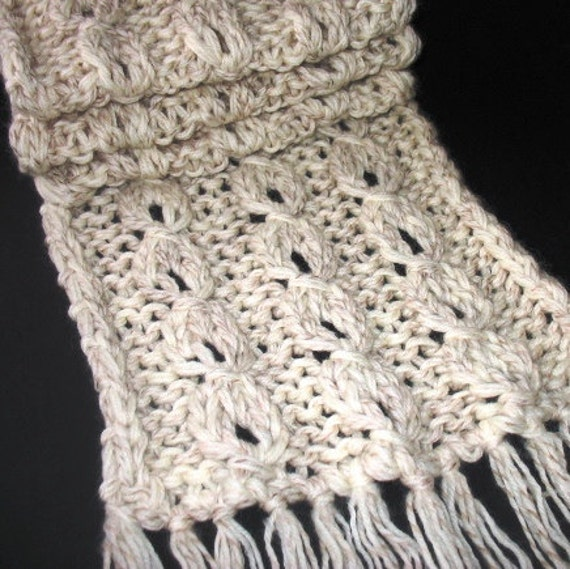 Knitting Pattern Trendy Reversible Lantern Scarf For By Redjk