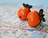Florida Orange earrings FREE SHIPPING