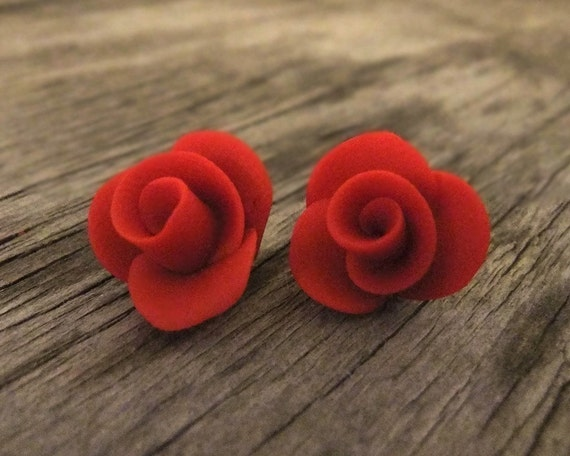 Vintage Inspired Rosebud Earrings
