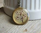 Elderberry Flower Necklace Pressed Flowers Botanical Jewelry Nature Inspired Garden Lover Gift