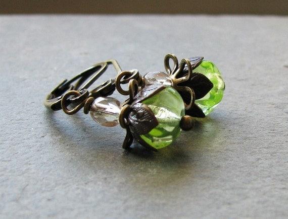 Czech Glass Earrings - Fairy