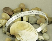 Wit beyond measure ... Harry Potter inspired Hand Stamped Aluminum Cuff Bracelet