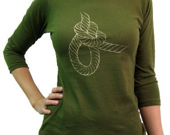 Bowline / Women's Boatneck 3/4 sleeve / Olive / Small