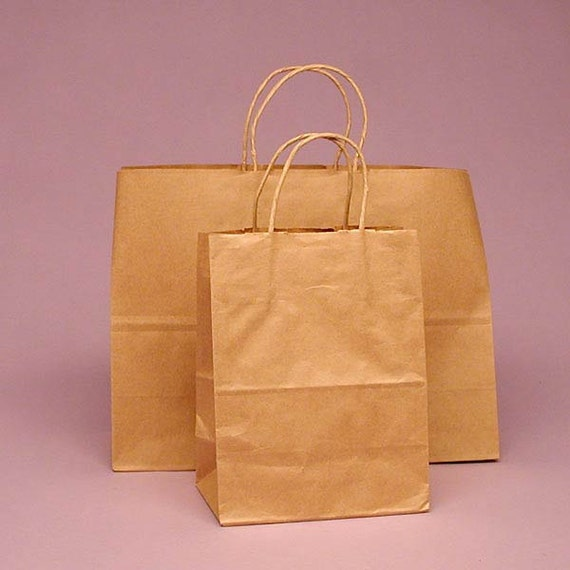 25 kraft handle shopping gift bags. Black Bedroom Furniture Sets. Home Design Ideas