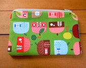 zipper pouch in house print