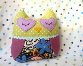 Plush Owl in Navy Floral