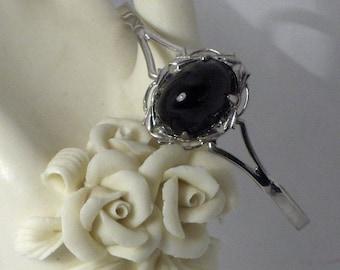 Black and Silver Delicate Cuff Bracelet