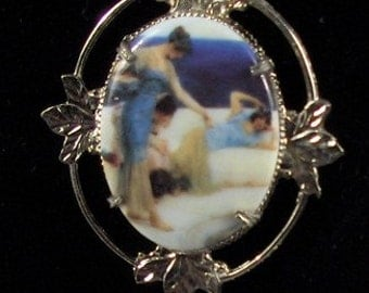 Beautiful Elegant Ladies by The Sea Cameo Necklace