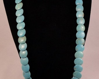 Beautiful Turquoise Gemstone and Sterling Silver Layered Necklace