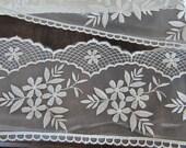 Cream  Bridal Floral Lace Trim