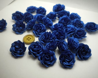 6 pc Satin NAVY BLUE Roses Pin Brooch Hat Hair Accessory Baby Girls Bow Headband Quilting