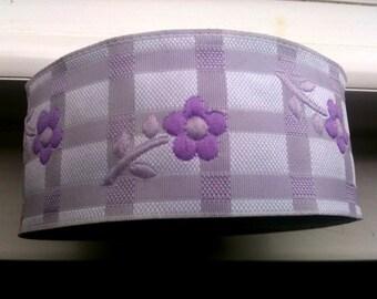 3 cm 1.18 inches Satin Jacquard Ribbon Trim with Lavende rand Purple  Daisy Flowers