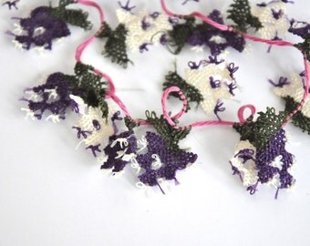 1 Pack of 29 handmade  OYA Needle Lace Flowers