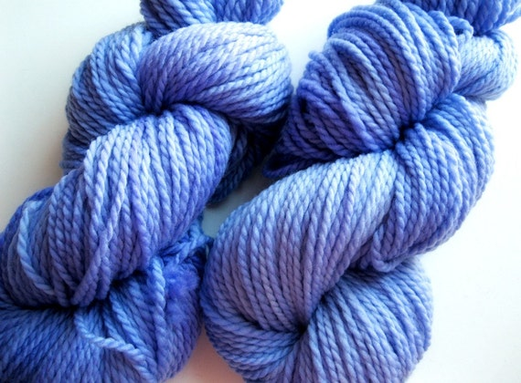 Hand dyed yarn, aran knitting, merino wool