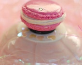 Strawberry Pink Macaroon Magnet