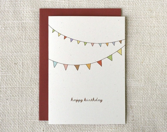 Birthday Card - Bunting