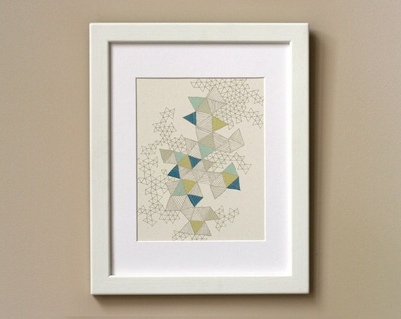 Art Print 8 x 10 - Love Triangles