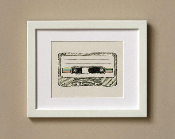 Art Print 8 x 10 - Mixtape