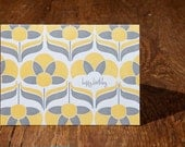birthday / marigold / letterpress card