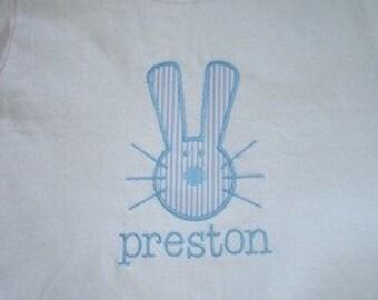 Boy's Brother Easter Bunny Applique Tee Shirt