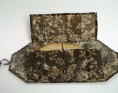 Brown Floral Waxed Cotton Sandwich Wrap