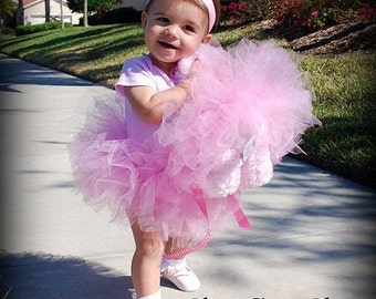 Dolly and Me Tutu Set -Includes Tutu and Headband for little girl and Tutu for teddy bear or American girl doll