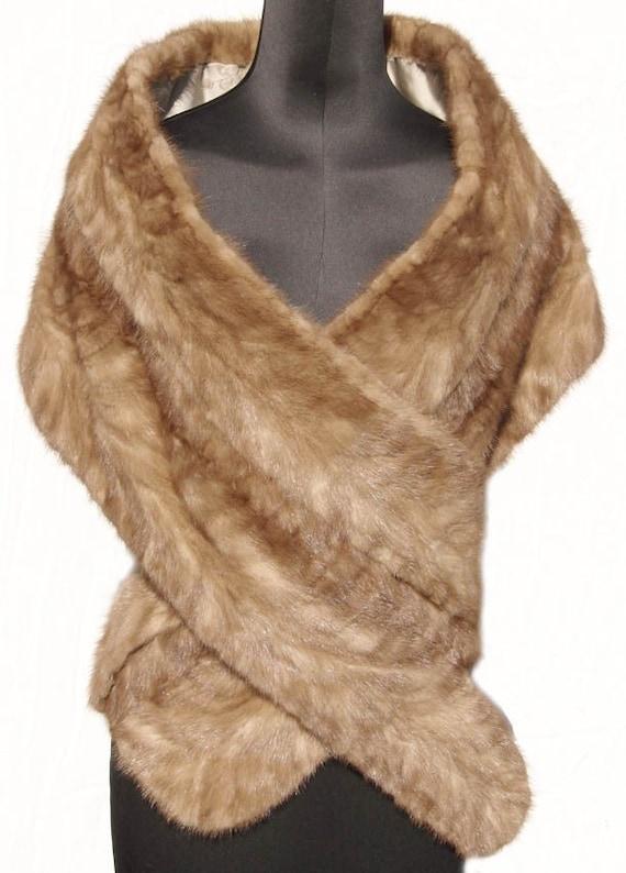 Vintage 1960s mink fur stole wrap - Stoel fur ...