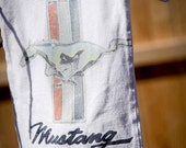 Baby Bag Sleeper with recycled Mustang T-shirt, for baby boy under 20 dollars