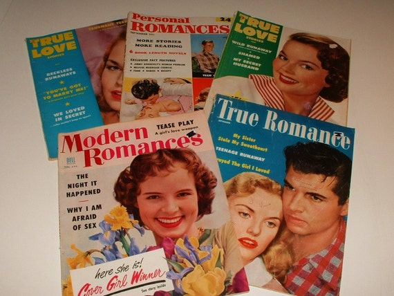 5 1950's True Romance Love Magazines ... Looking for Love