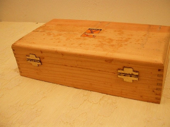 Vintage X Acto Knife Tool Set In Dovetail Wood Box