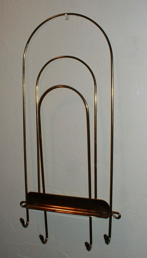 Metal Wire Mail Rack Key Holder Mid Century Mod Minimalist Design