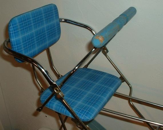 Vintage Bicycle Seats : Vintage s child baby bike bicycle seat metal wood vinyl