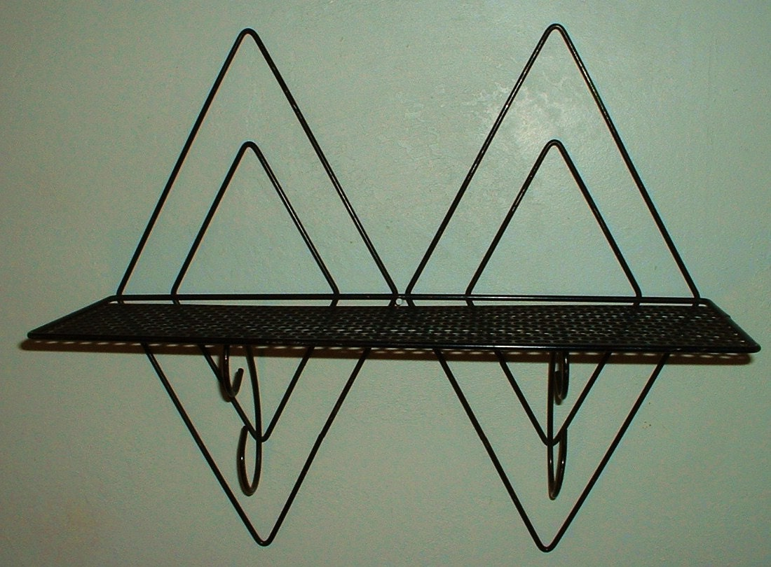 metal mid century modern wall shelf retro cool. Black Bedroom Furniture Sets. Home Design Ideas
